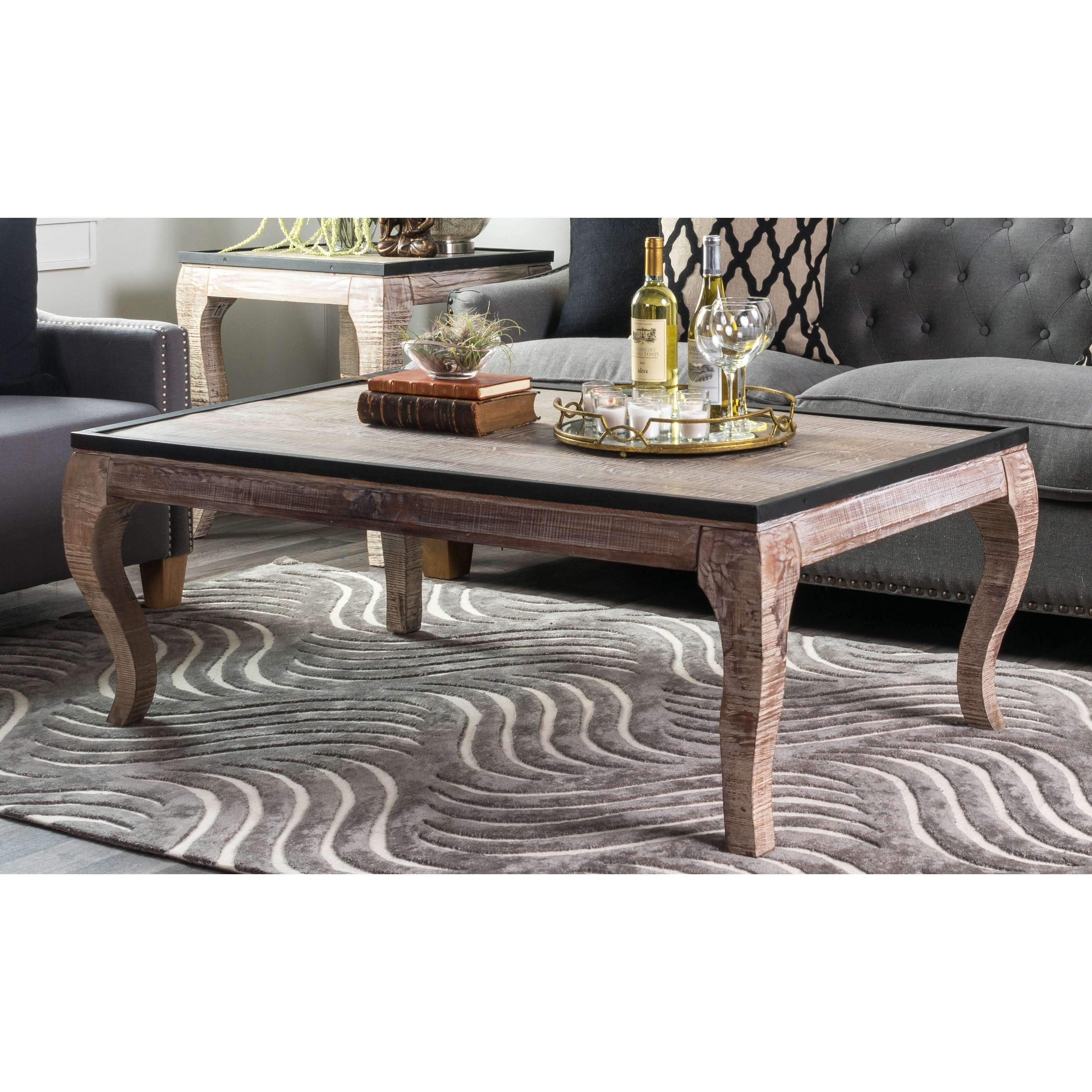 Kosas Home Cosmo Wood With Iron Trim Coffee Table – Free Shipping Regarding Most Current Cosmo Coffee Tables (View 15 of 20)