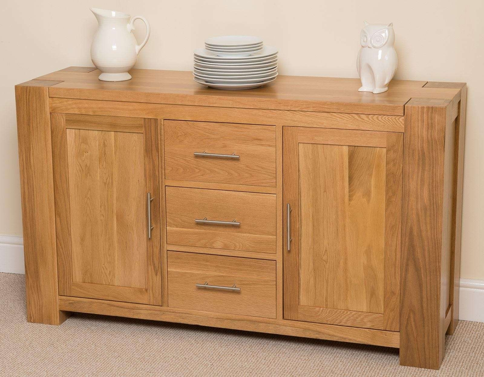 Kuba Solid Large Oak Sideboard | Free Uk Delivery With Solid Oak Sideboards (View 9 of 20)