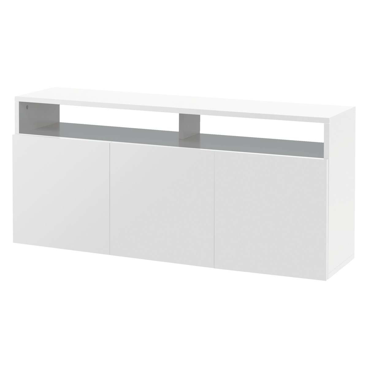 Kubrik White High Gloss Large Sideboard | Buy Now At Habitat Uk For Large White Sideboards (Gallery 3 of 20)
