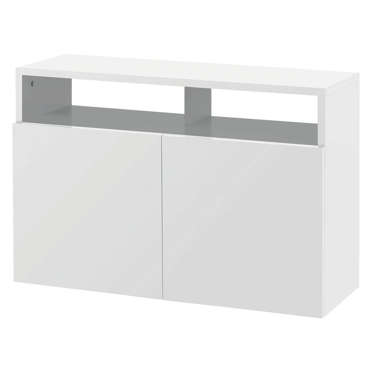 Kubrik White High Gloss Small Sideboard | Buy Now At Habitat Uk Within White High Gloss Sideboards (Gallery 7 of 20)