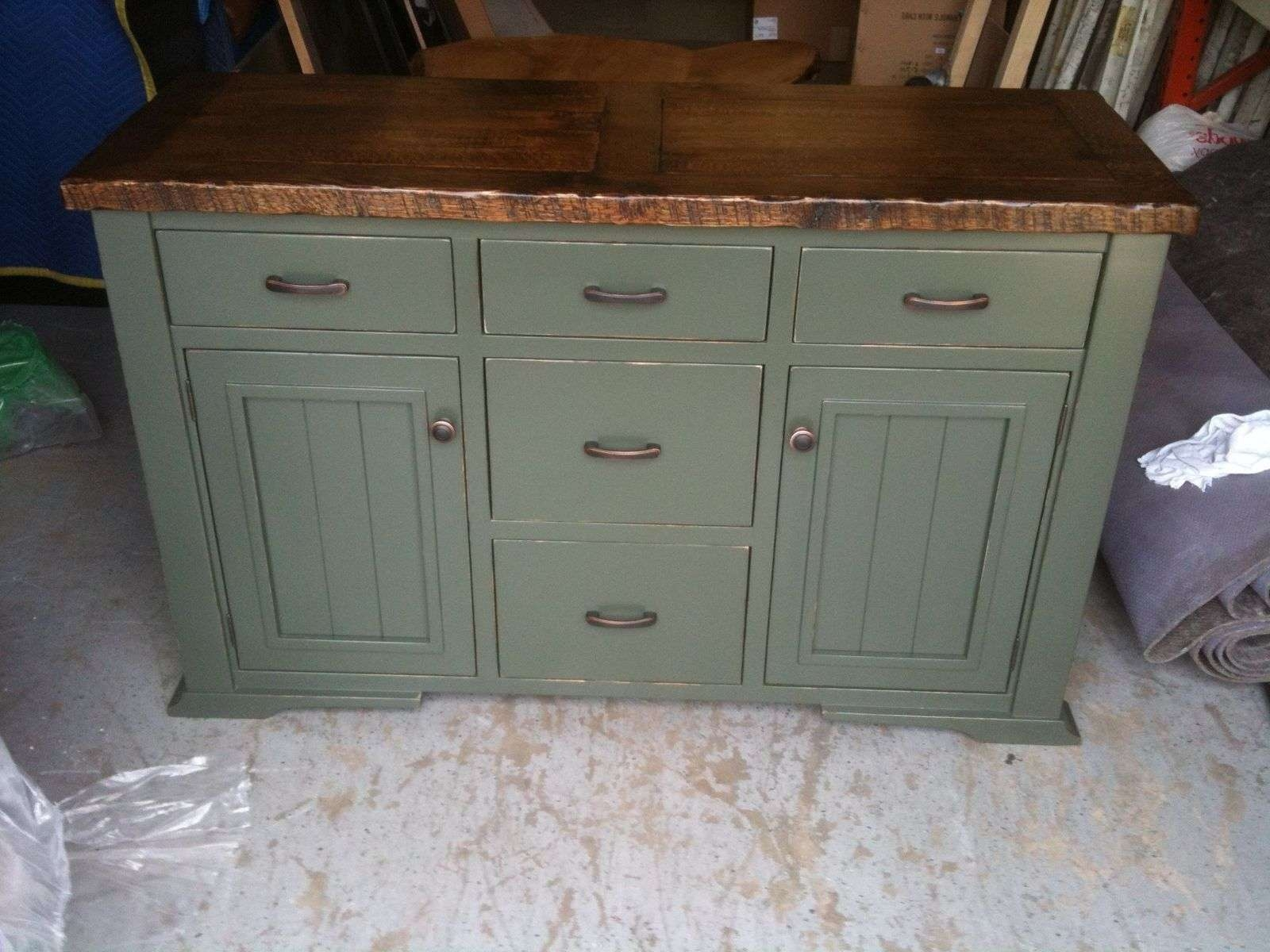 Landon Distressed White Sideboard Storage Cabinet Traditional Within Painted Sideboards And Buffets (View 8 of 20)