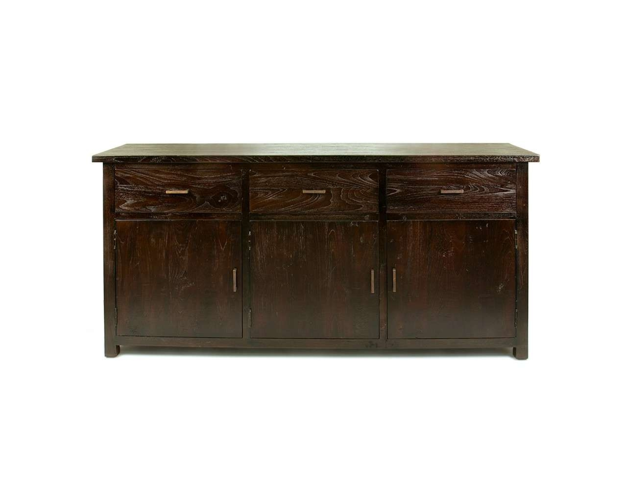 Large Dark Teak Sideboard – Reclaimed Wood Contemporary Furniture With Dark Brown Sideboards (View 8 of 20)