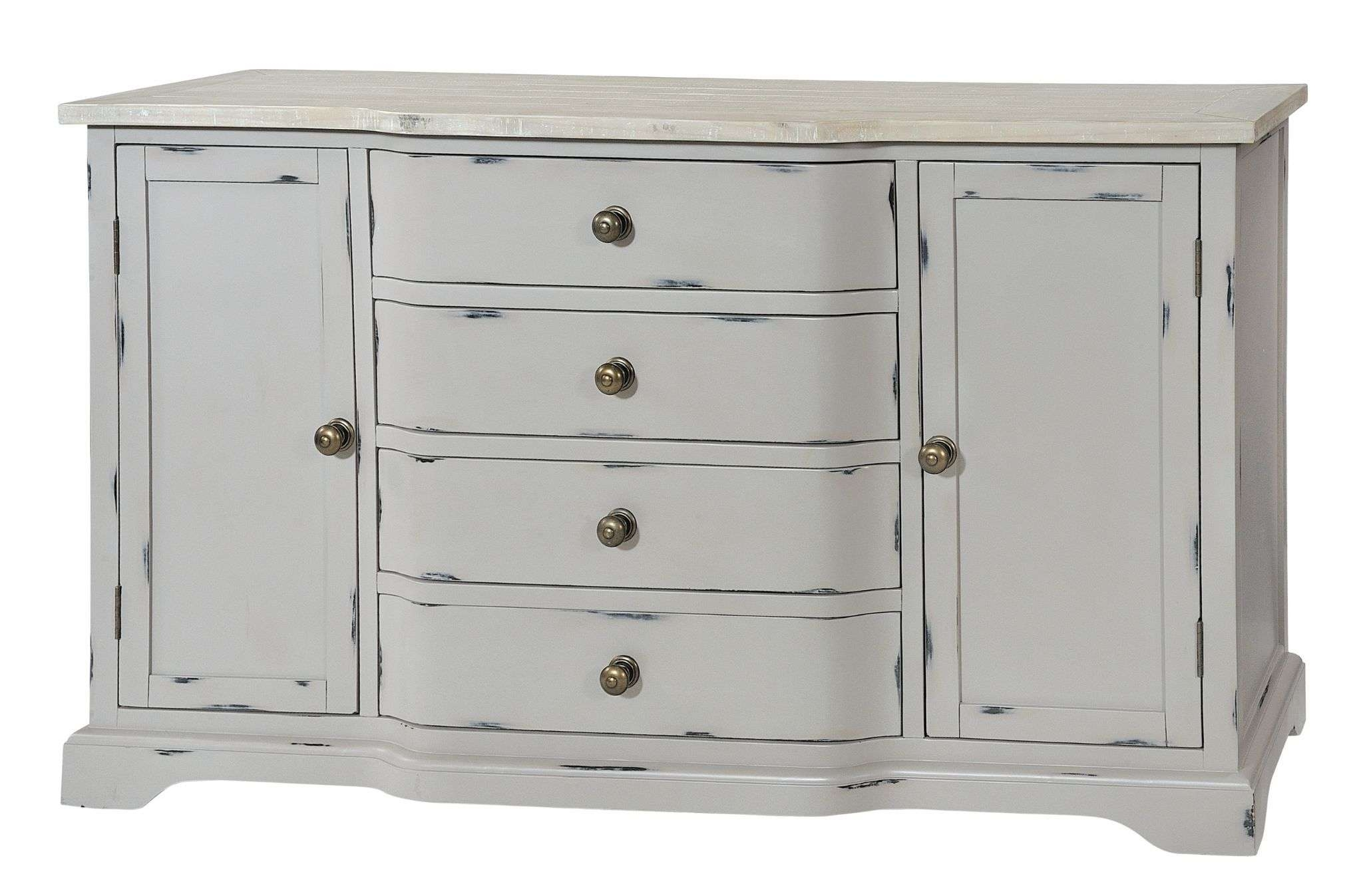 Large Grey Shabby Chic Sideboard – Bovary With Regard To Shabby Chic Sideboards (View 9 of 20)