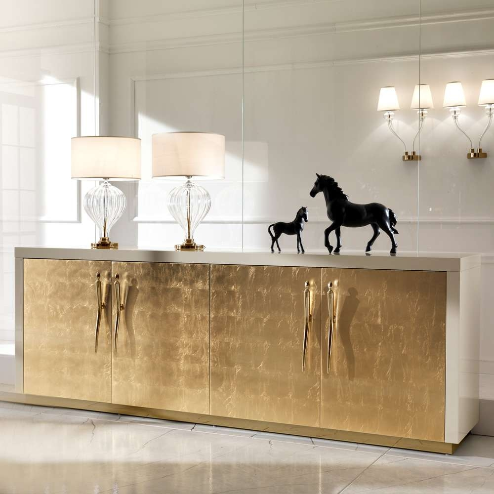 Large High End Gold Leaf Sideboard | Juliettes Interiors – Chelsea With Gold Sideboards (View 13 of 20)