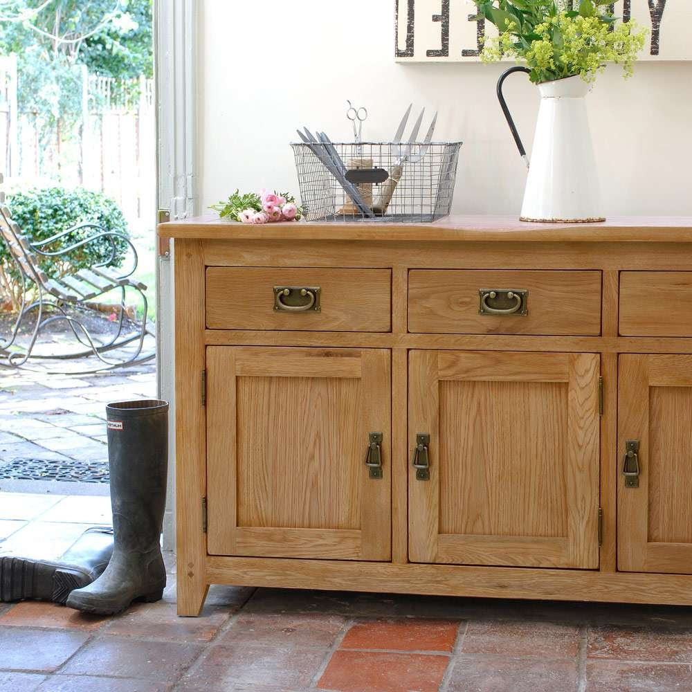 Large Rustic Sideboard : Ideas Decor Rustic Sideboard – Wood Furniture Intended For Rustic Oak Large Sideboards (View 17 of 20)