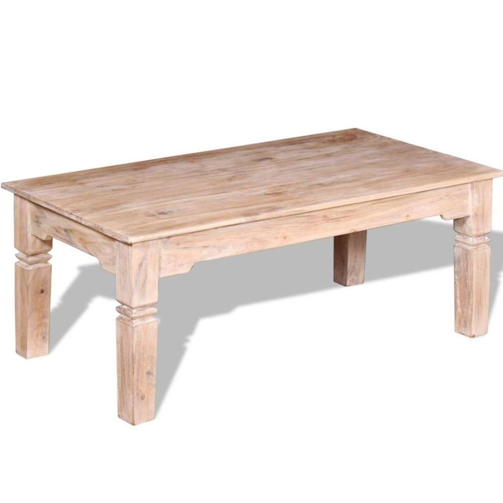 Large Solid Wood Coffee Table Unit Vintage Rustic Handmade Living For 2017 Large Solid Wood Coffee Tables (View 18 of 20)