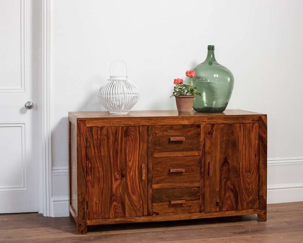 Large Solid Wood Sideboard | Casa Bella Sheesham Indian Furniture With Indian Sideboards Furniture (View 14 of 20)