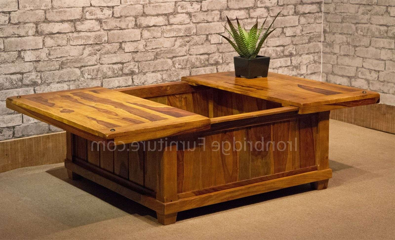 Large Square Chest Coffee Table • Coffee Table Design With Popular Square Chest Coffee Tables (View 7 of 20)