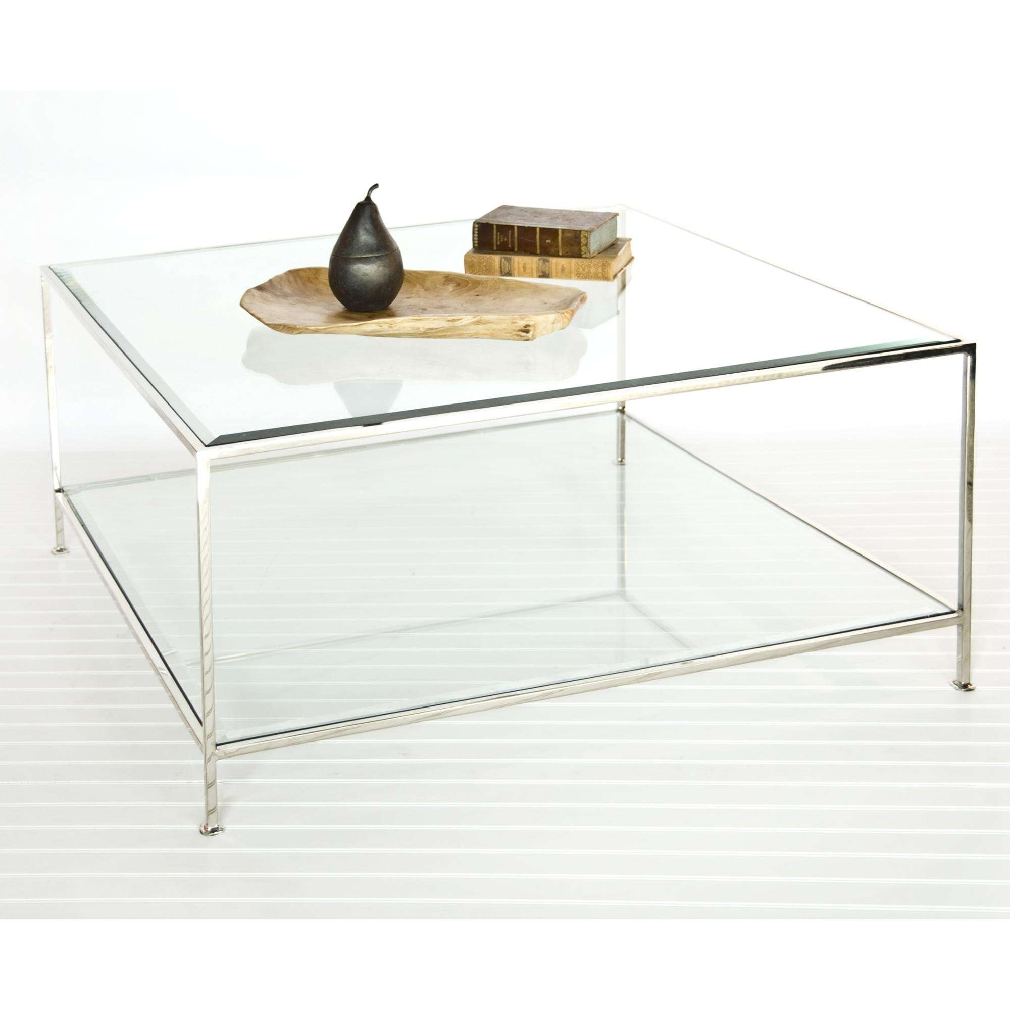 Large Square Glass Coffee Table – Glass Coffee Table Throughout Recent Metal Square Coffee Tables (View 15 of 20)