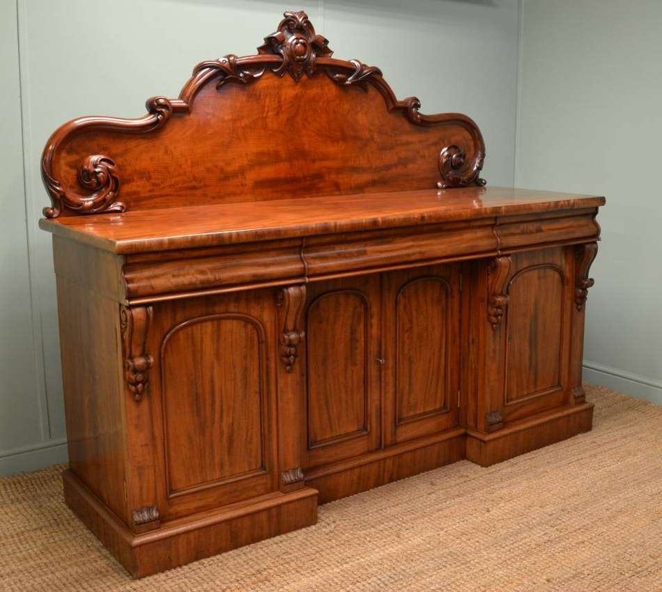 Large, Superb Quality, Victorian Mahogany Antique Sideboard In Mahogany Sideboards (View 13 of 20)