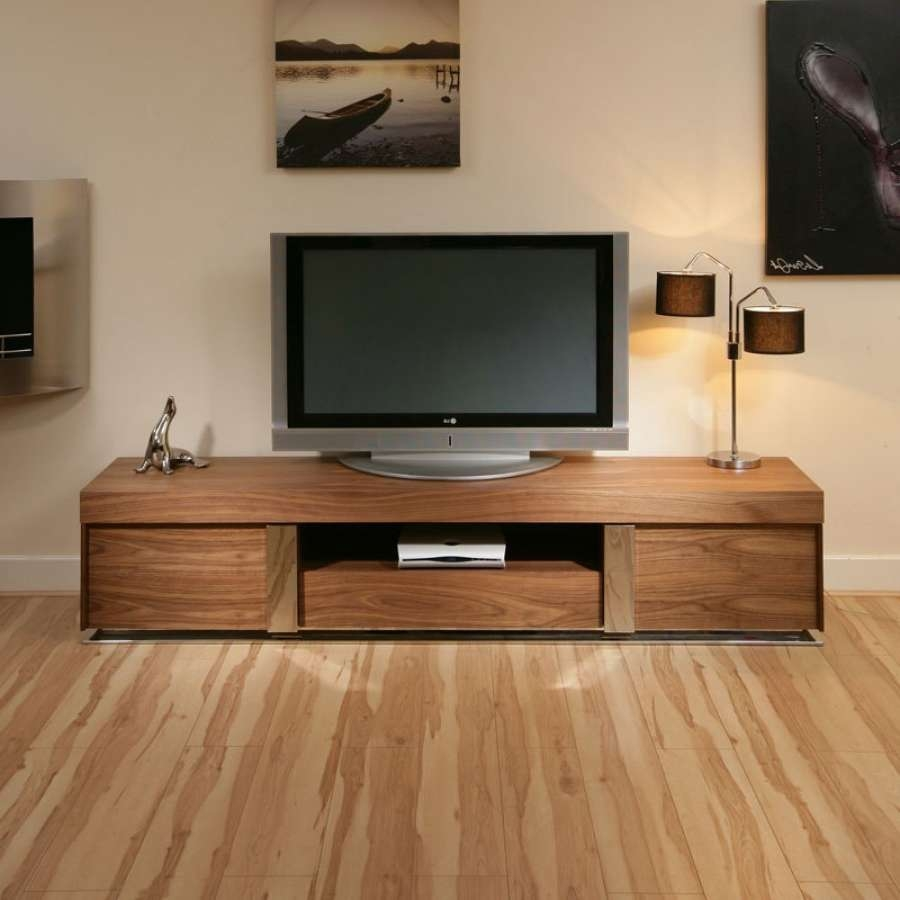 Large Tv Television Cabinet Entertainment Unit Center Walnut Wood Within Large Tv Cabinets (View 17 of 20)