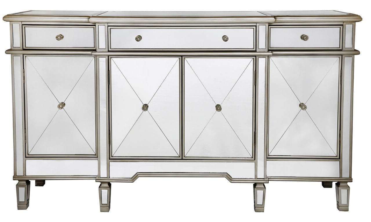 Large Venetian Mirrored Sideboard With Mirrored Sideboards (View 11 of 20)