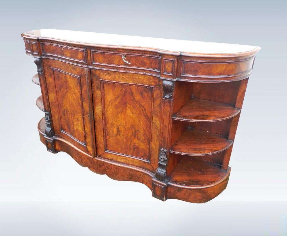 Large Victorian Walnut Credenza Sideboard For Credenza Sideboards (View 8 of 20)