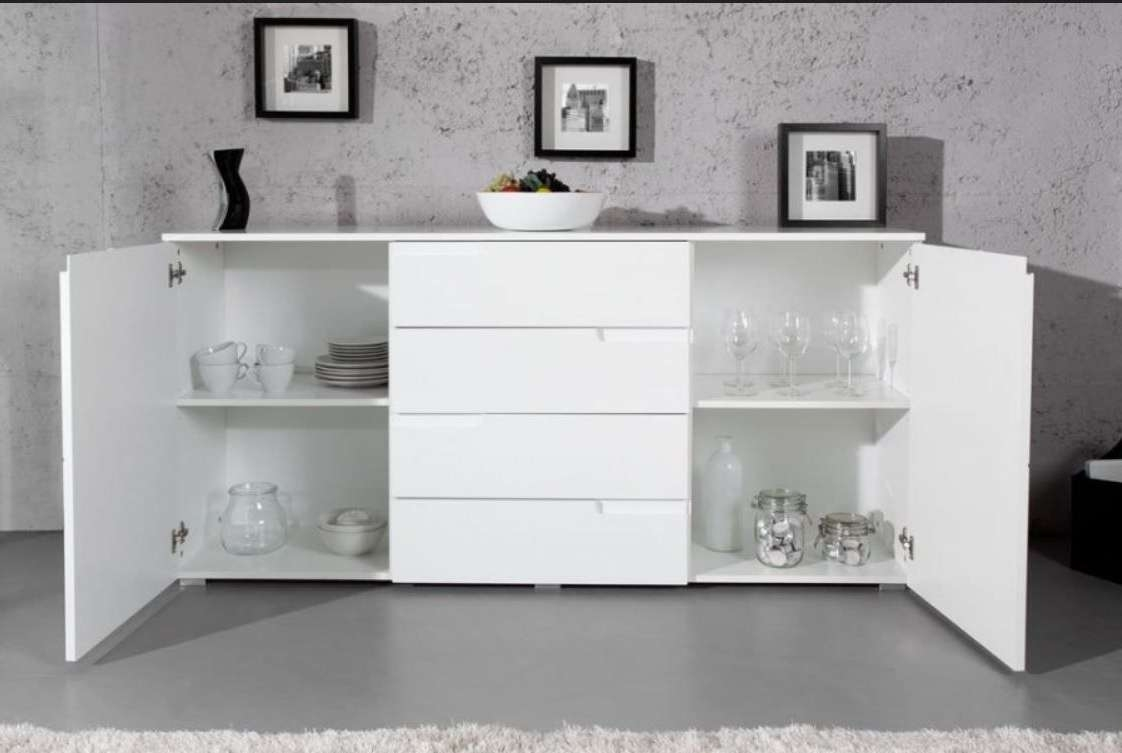 Large White Gloss Sideboardfurniturefactor.co (View 7 of 20)