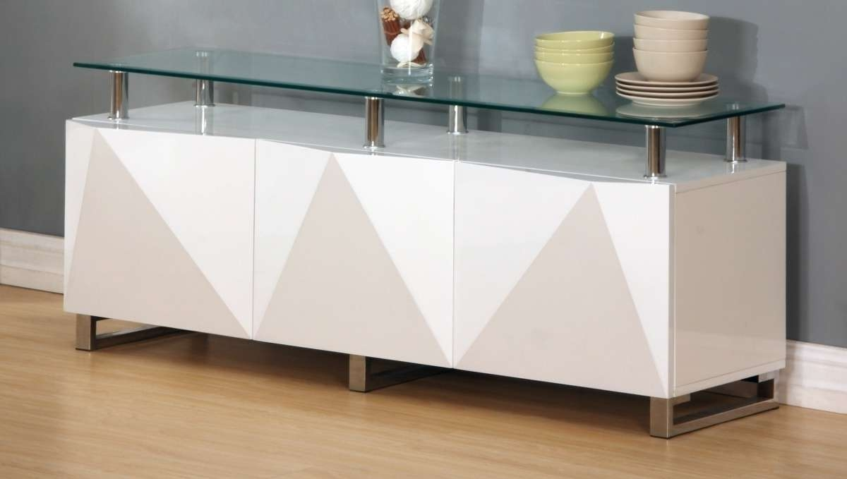 Large White High Gloss Sideboard – Homegenies For High White Gloss Sideboards (View 10 of 20)