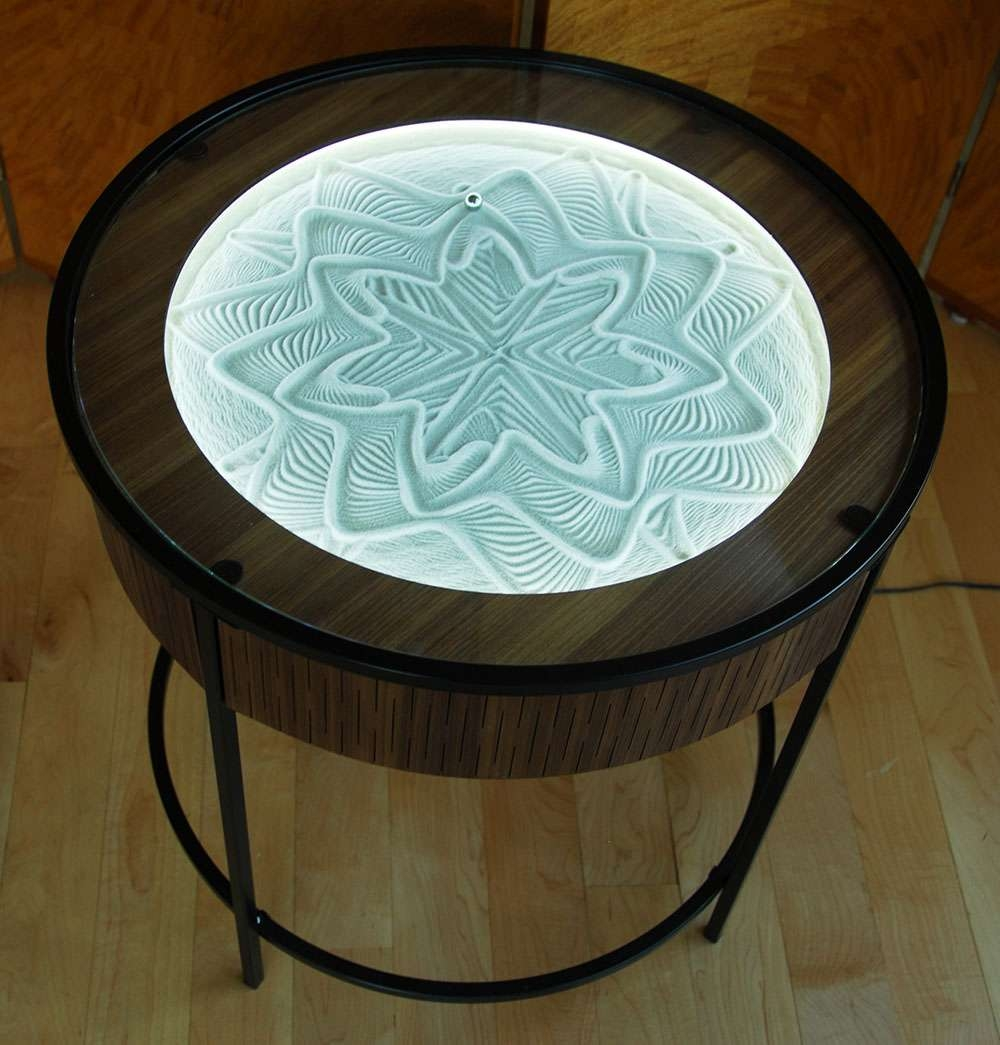 coffee table drawing. Latest Art Coffee Tables With New Kinetic Sand Drawing Tablesbruce Shapiro (Gallery 16 Of 20 Table