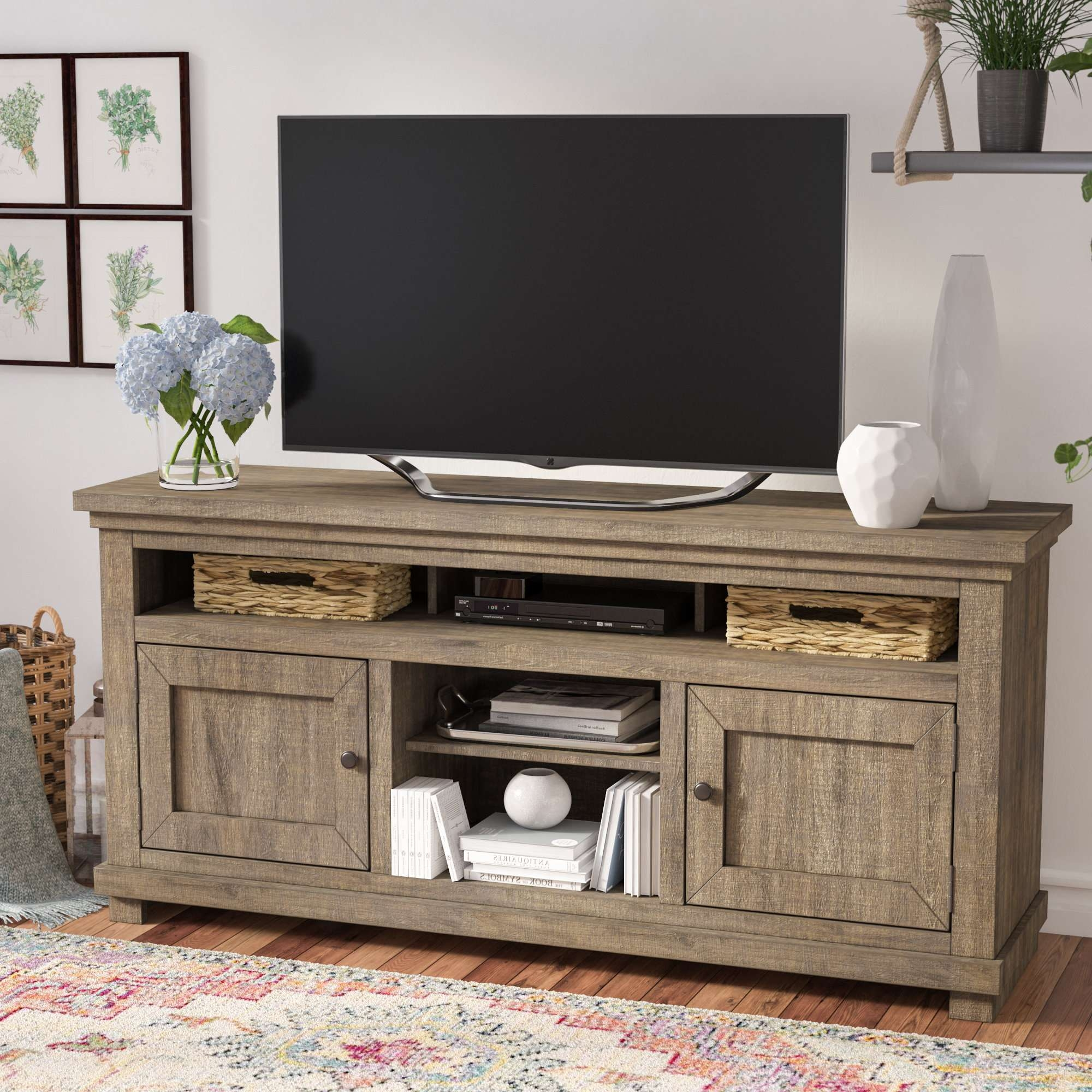Latest Cd Storage Coffee Tables Regarding Cottage & Country Tv Stands You'll Love (View 11 of 20)