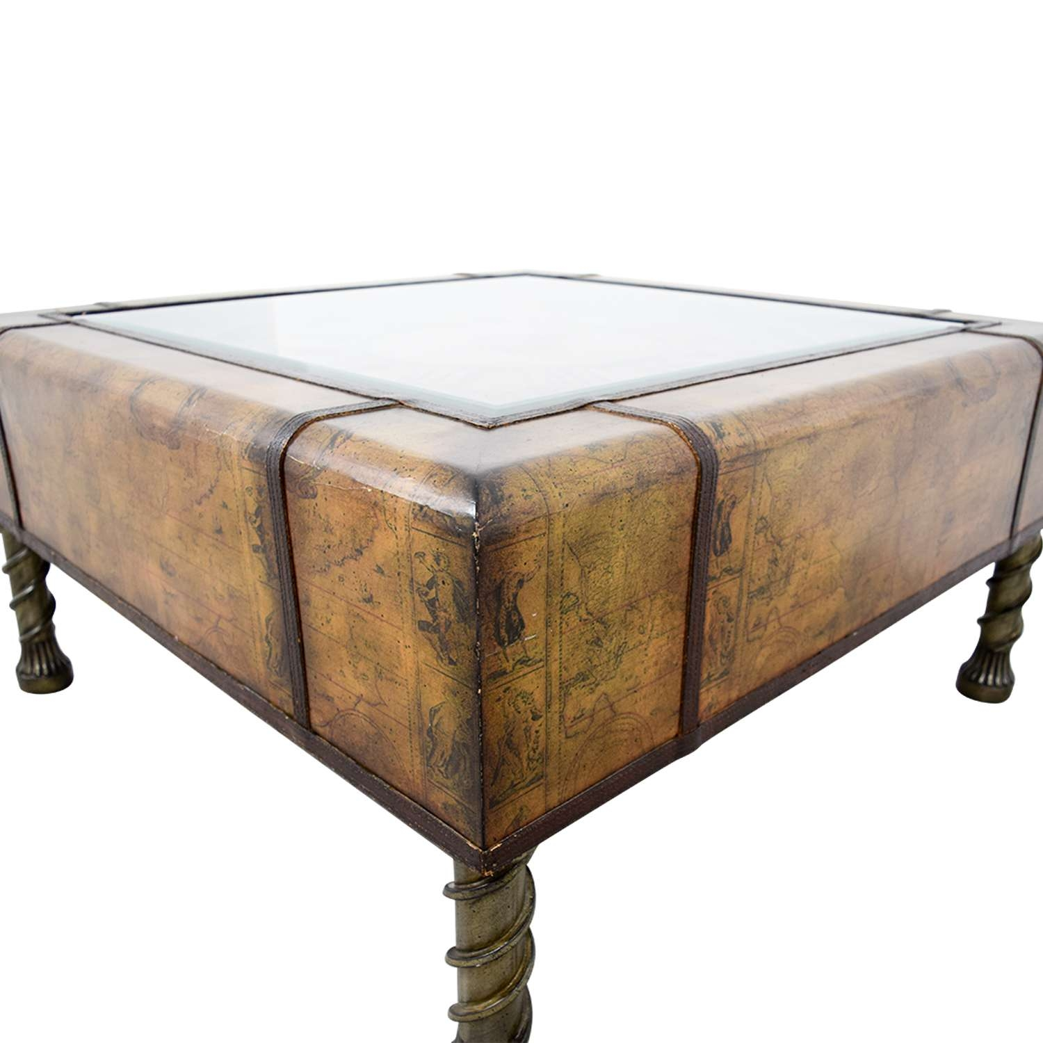 [%Latest Coffee Tables With Clock Top In 87% Off – Glass Clock Top Coffee Table / Tables|87% Off – Glass Clock Top Coffee Table / Tables Throughout Latest Coffee Tables With Clock Top%] (View 1 of 20)