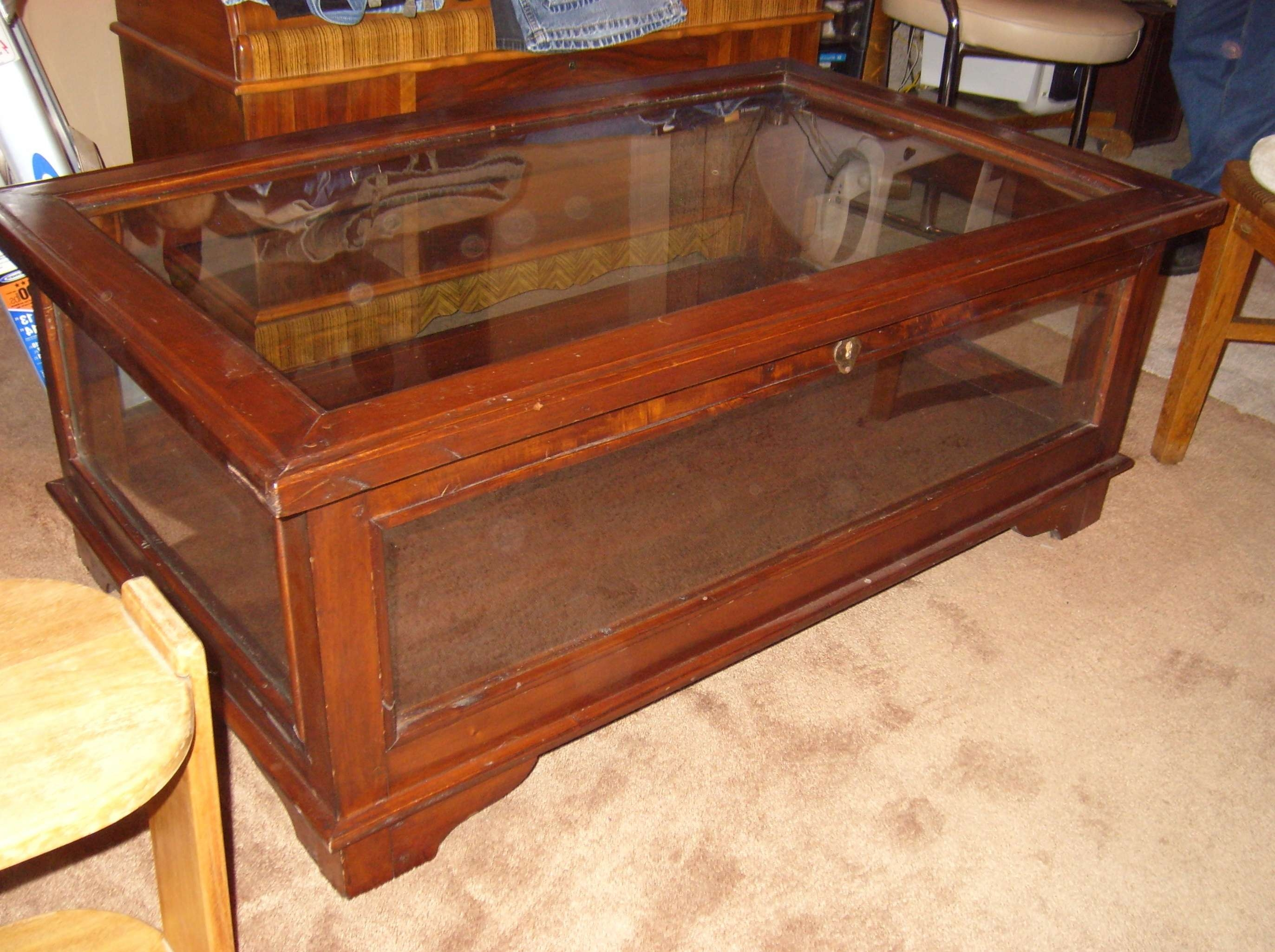 Latest Coffee Tables With Glass Top Display Drawer Inside Coffee Table Square Coffee Table With Display Case Worldtipitaka (View 12 of 20)