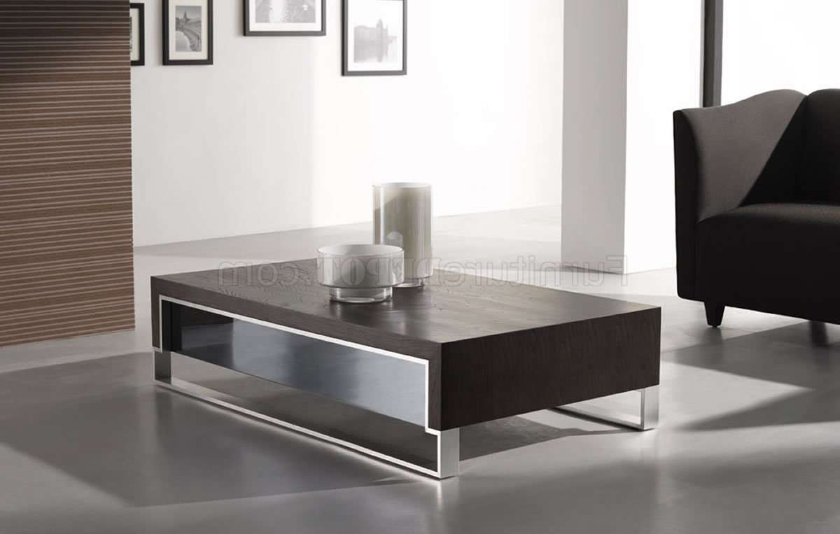 Latest Contemporary Coffee Table Within Wenge Finish Contemporary Coffee Table W/side Glass (View 13 of 20)