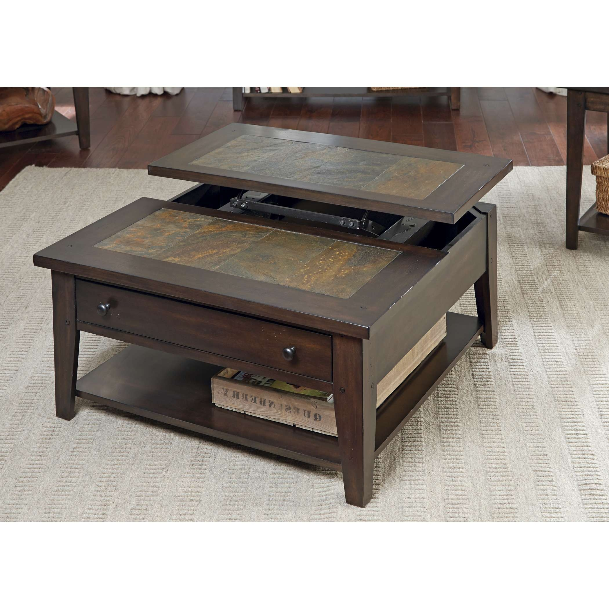 Latest Corner Coffee Tables Within Coffee Table : Black Lift Top Coffee Table Small End Table Lift Up (View 11 of 20)