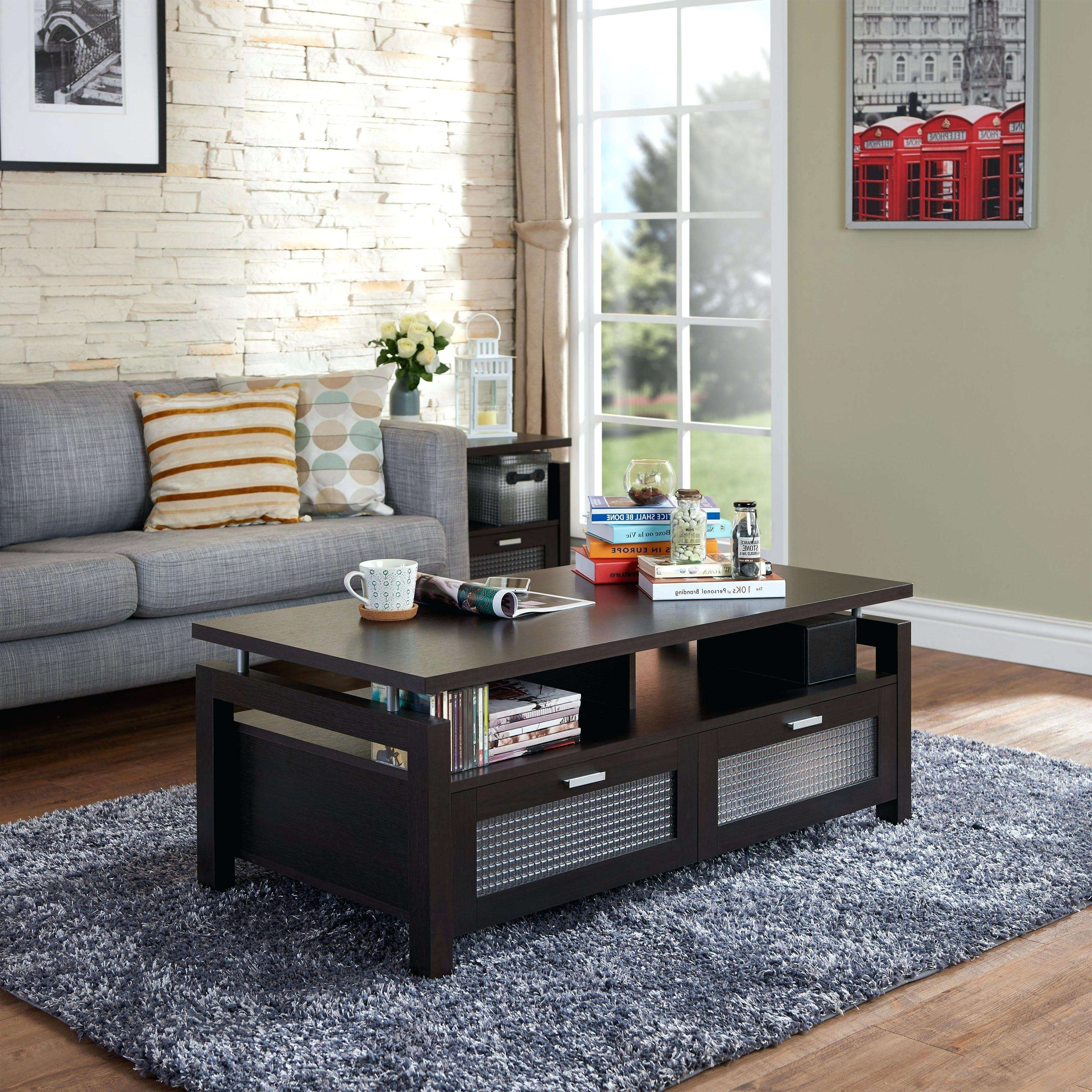Latest Dark Brown Coffee Tables Pertaining To Brown Coffee Table Set Perfect For Interior Design Also Dark Brown (View 14 of 20)
