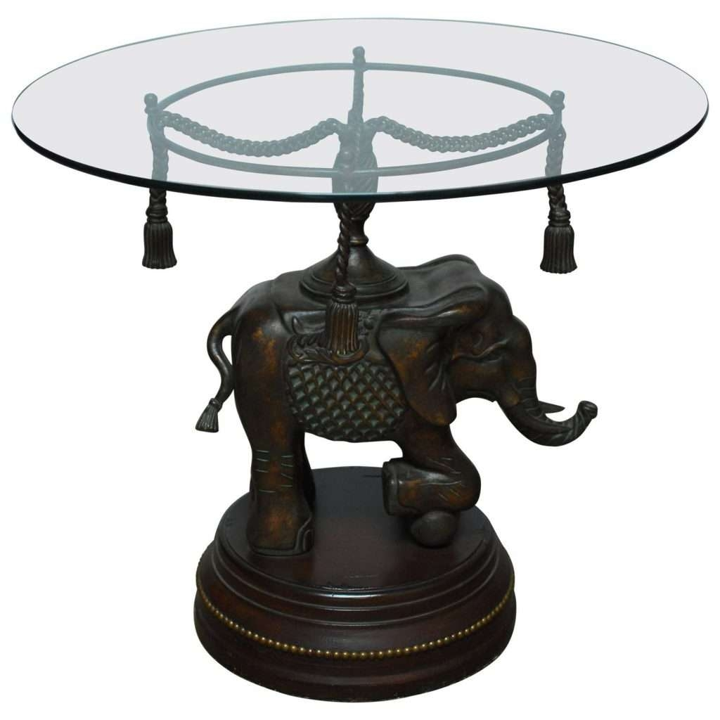 Latest Elephant Coffee Tables Throughout Home ~ Bronze Elephant Pedestal Side Table For Sale At 1stdibs (View 17 of 20)