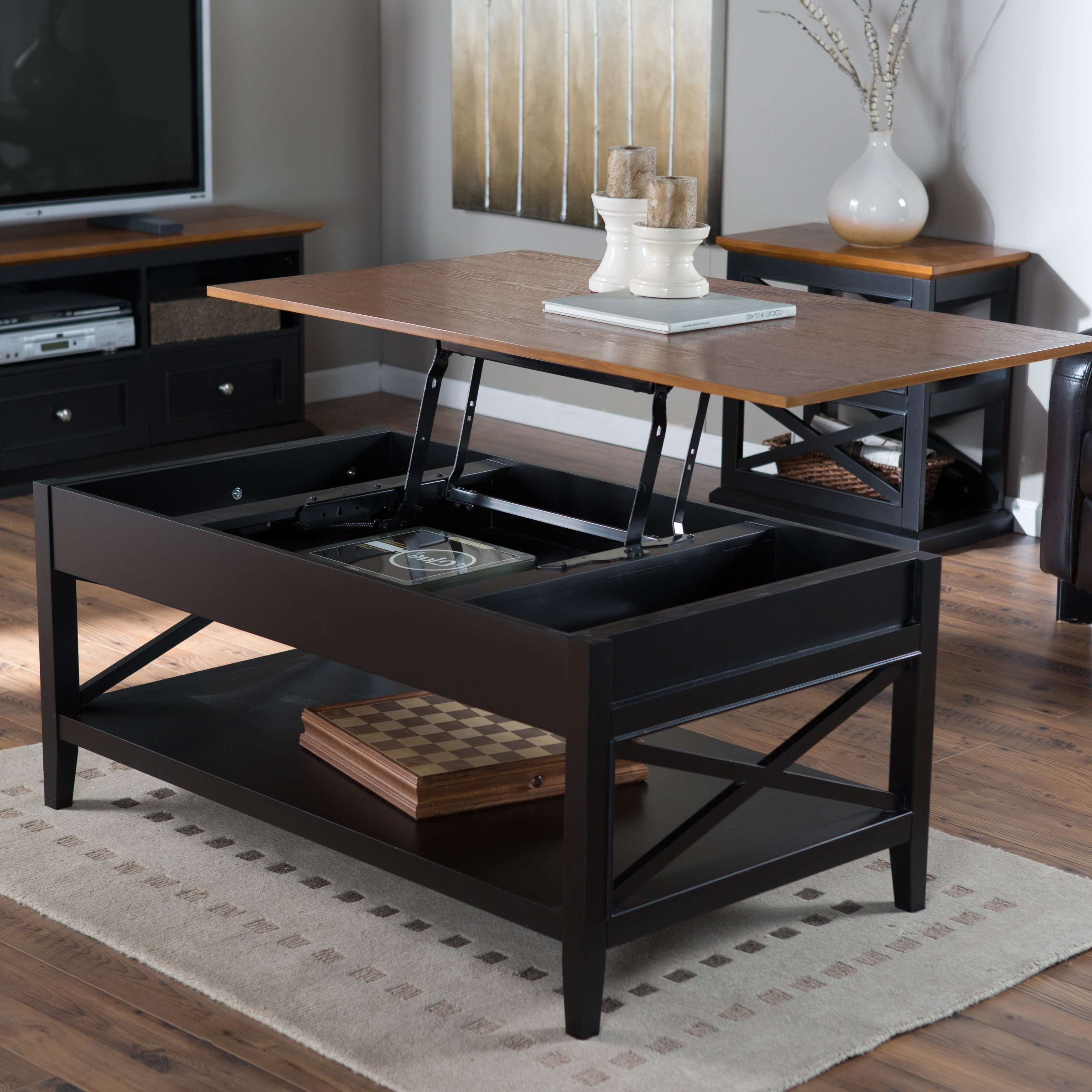 Latest Elevating Coffee Tables With Regard To Coffee Tables : Modern Lift Top Coffee Table Dakota Pass Sauder (View 4 of 20)