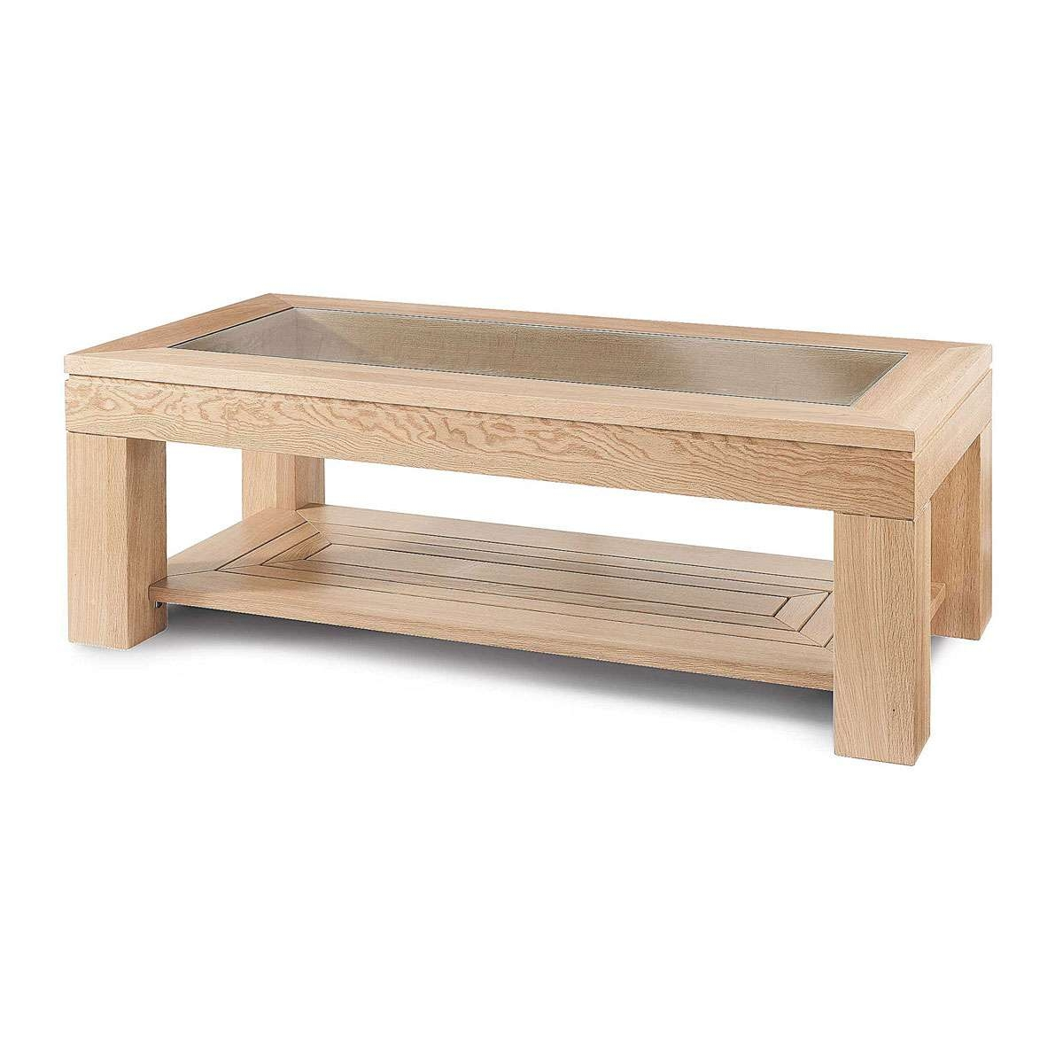 Latest Glass And Oak Coffee Tables Inside Oak Coffee Table With Glass Top – Gray Soft Carpet Area, Clear (View 6 of 20)