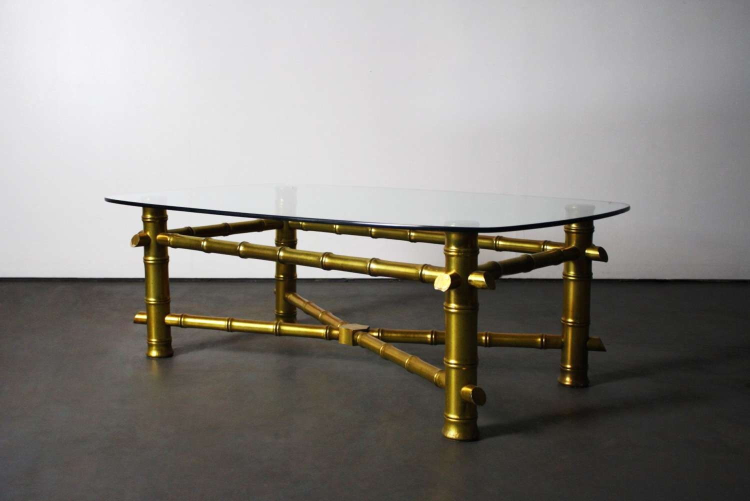 Latest Gold Bamboo Coffee Tables Intended For Gold Faux Bamboo Coffee Table • Coffee Table Design (View 6 of 20)