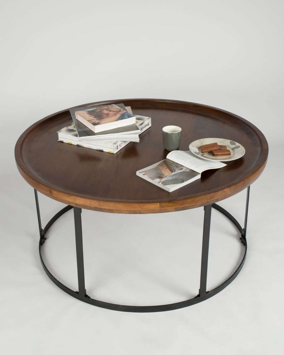 Latest Industrial Round Coffee Tables Intended For Coffee Tables : Industrial Round Coffee Table End Tables Large (View 11 of 20)