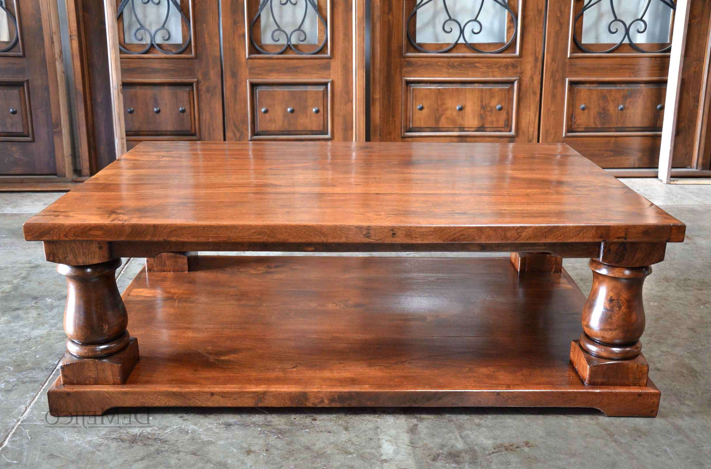 Latest Large Low Rustic Coffee Tables Regarding Coffee Table : Magnificent Large Wood Coffee Table Large Coffee (View 2 of 20)