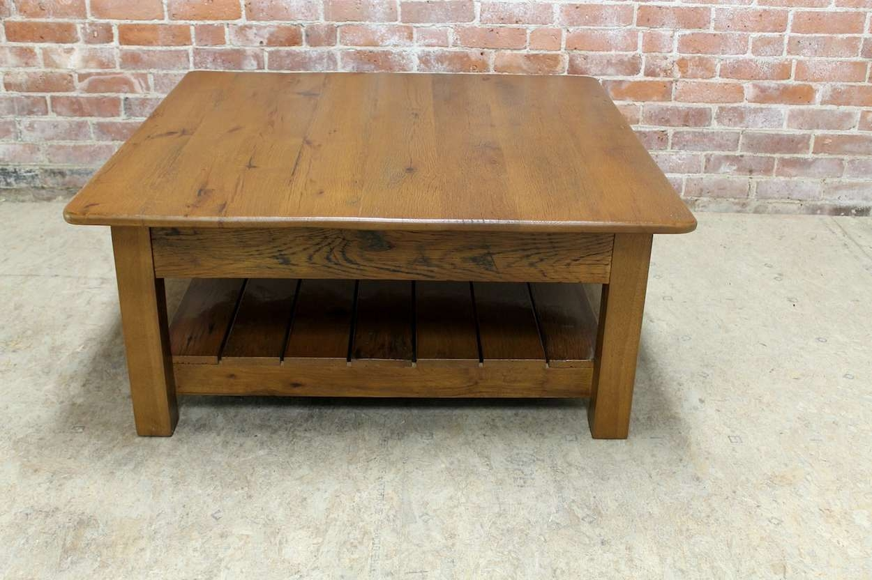 Latest Large Square Coffee Tables Pertaining To Supple 2 6 And Danish Teak Square Coffee Tables 1960S Set To (View 11 of 20)