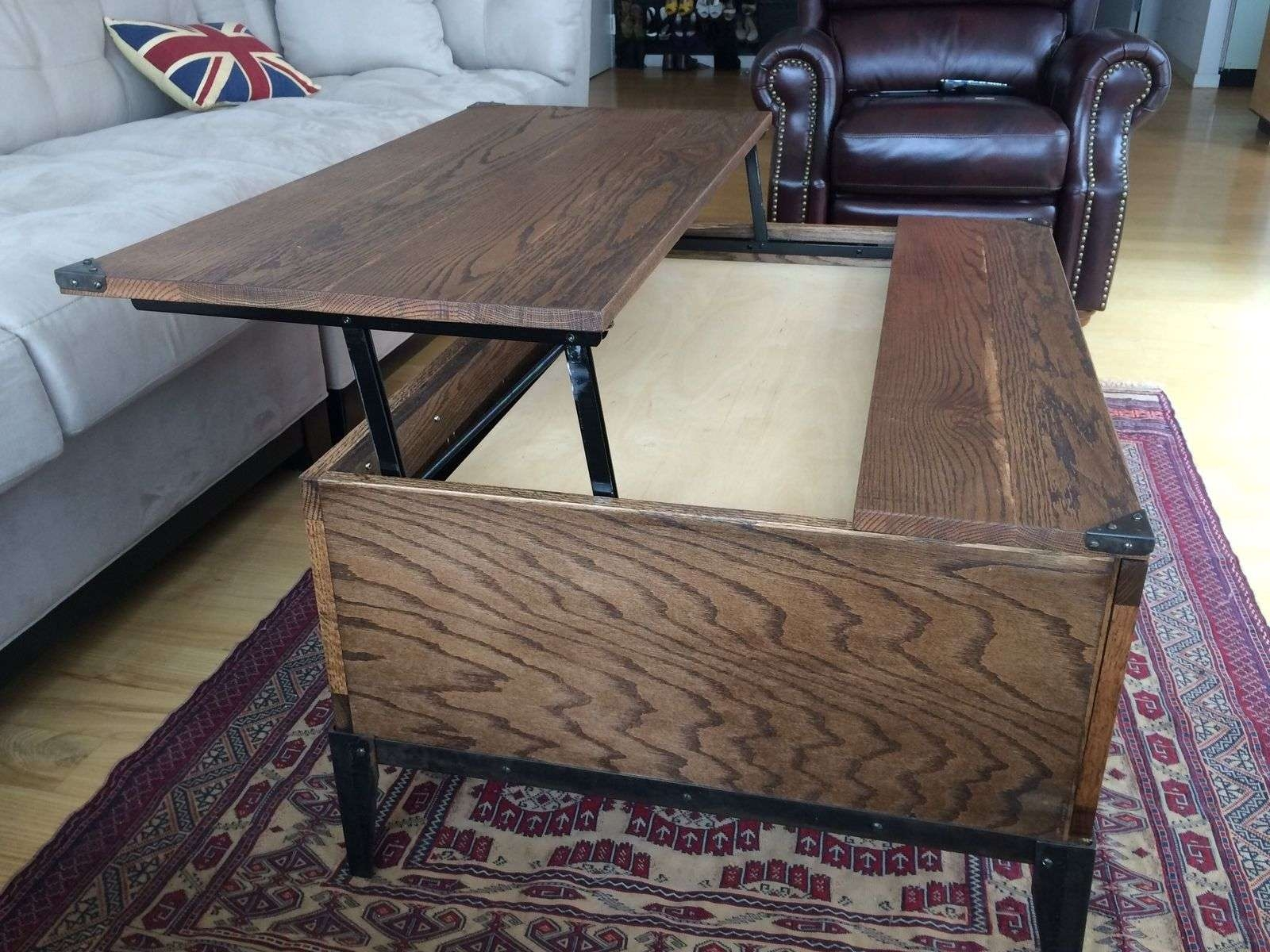 Latest Lift Top Coffee Table Furniture Within Hand Crafted Lift Top Coffee Tablem (View 3 of 20)