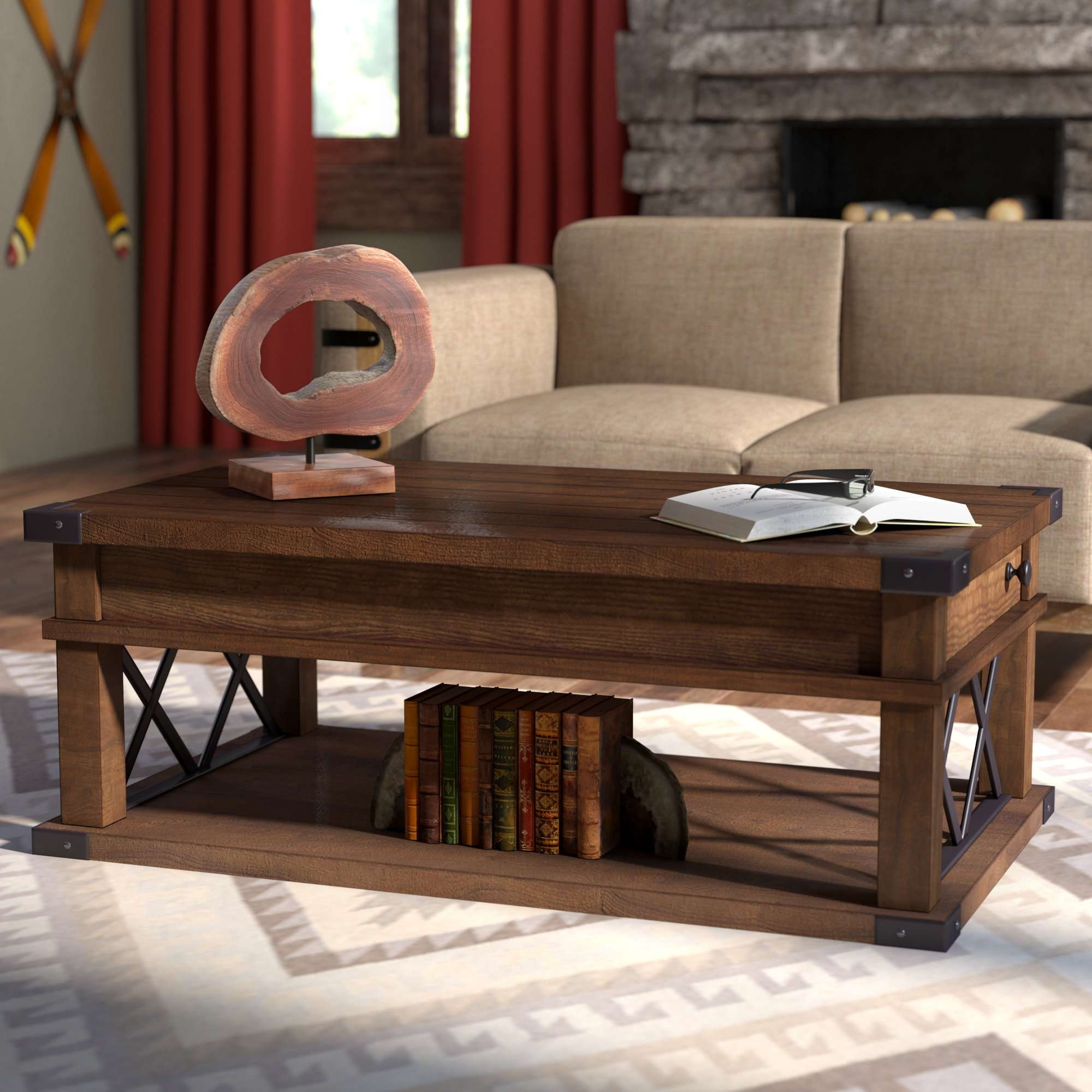 Latest Lift Top Coffee Tables For Loon Peak Fusillade Lift Top Coffee Table & Reviews (View 10 of 20)