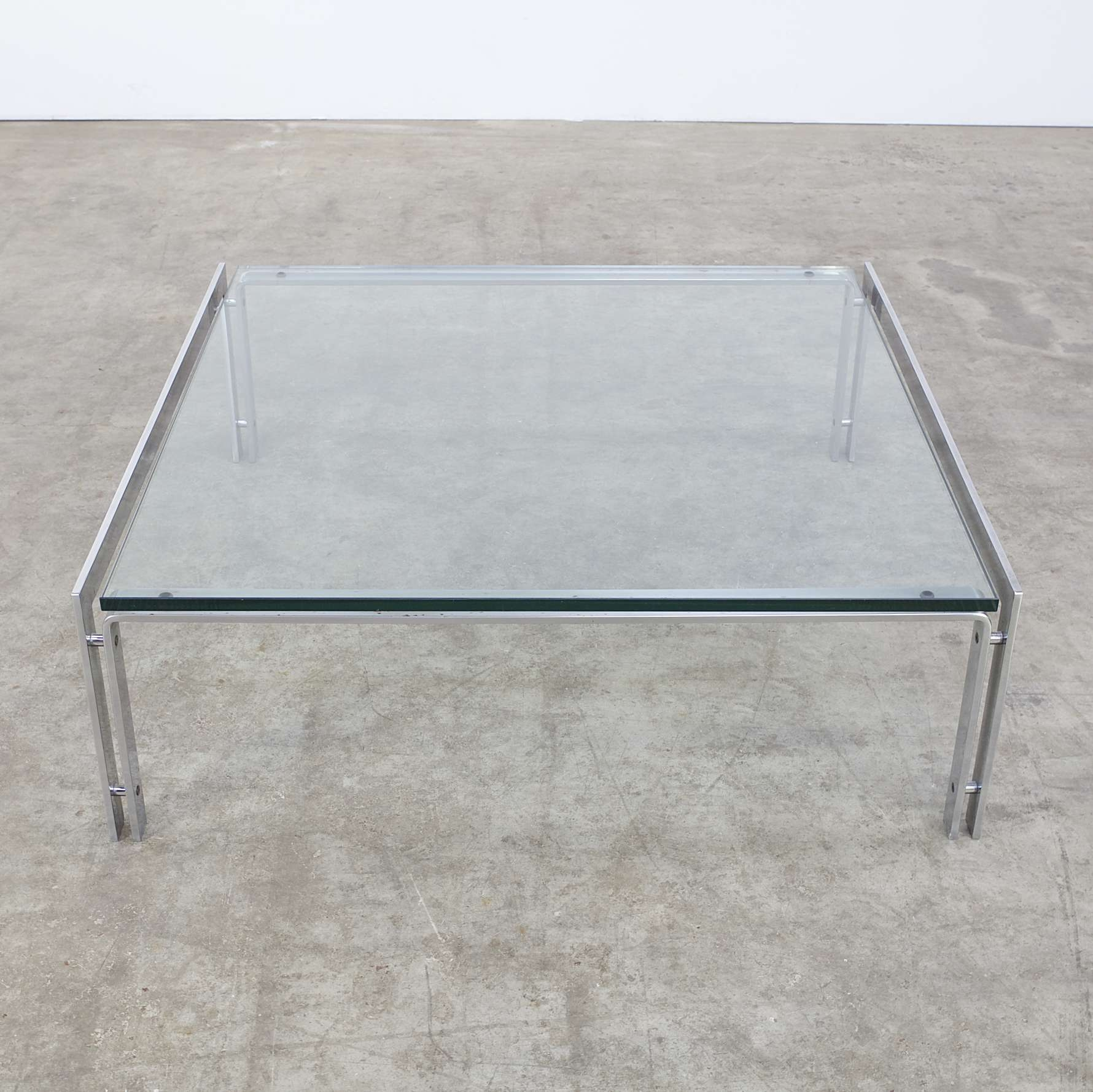 Latest Low Industrial Coffee Tables Regarding Coffee Tables : Coffee Table Glass Metal Vintage Retro Design (View 15 of 20)