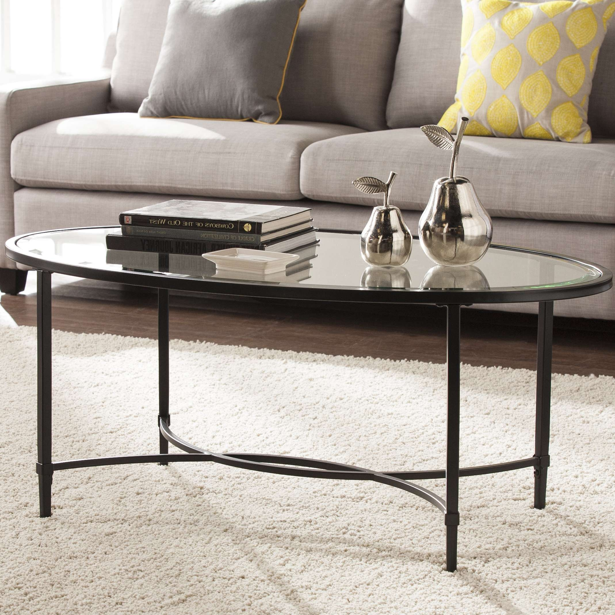 Latest Metal Glass Coffee Tables Within Charlton Home Sherrodsville Metal/glass Coffee Table & Reviews (View 19 of 20)