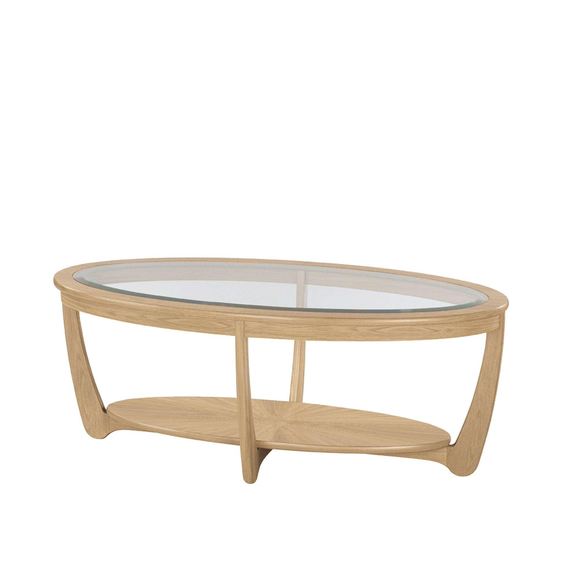 Latest Oak And Glass Coffee Table For Nathan Shades Oak Glass Top Oval Coffee Table – Coffee Tables (View 12 of 20)