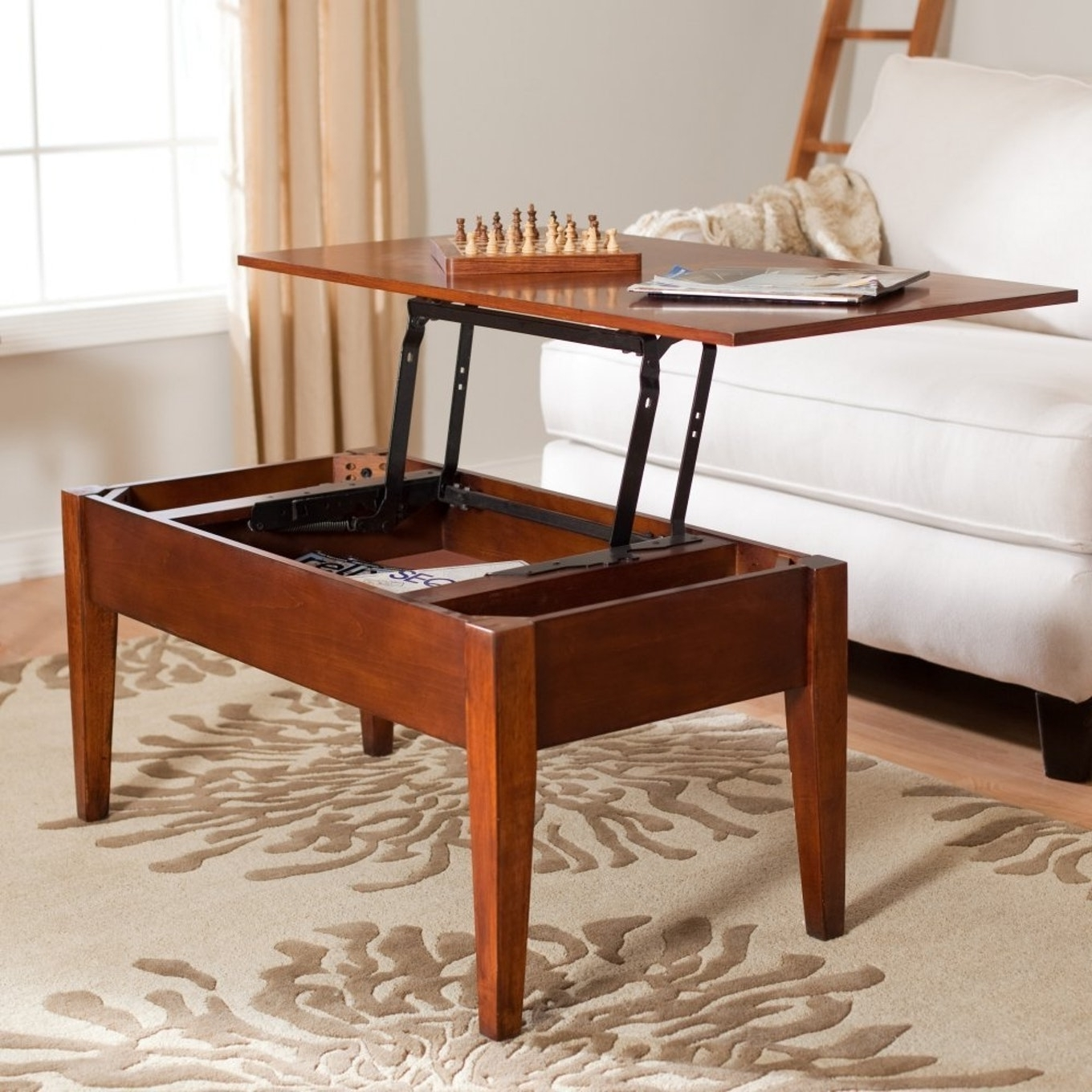 Latest Opens Up Coffee Tables Intended For Coffee Table That Raises Up – Vtsi (View 15 of 20)