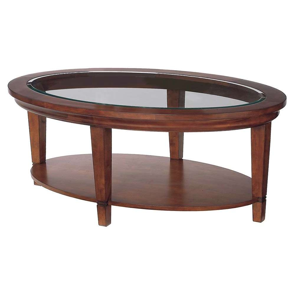 Latest Oval Glass And Wood Coffee Tables For Glass Coffee Tables: Incredible Traditional Glass Top Coffee Table (View 3 of 20)