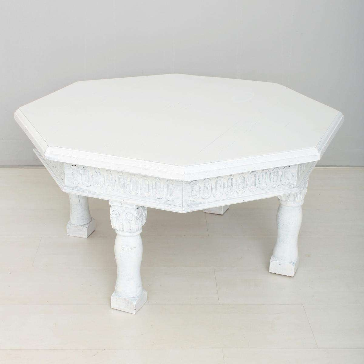 Latest Retro White Coffee Tables In Vintage White Coffee Table For Sale At Pamono (View 14 of 20)