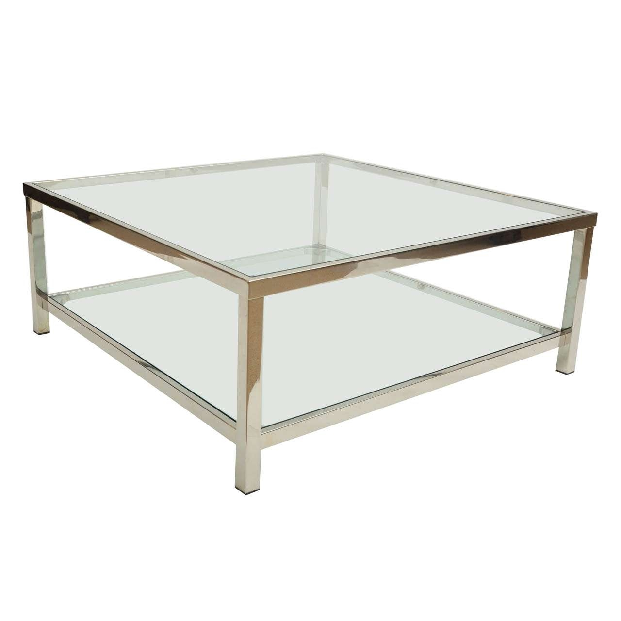 Latest Round Chrome Coffee Tables Intended For Coffee Tables : Elegant Black Rectangle Minimalist Glass And (Gallery 12 of 20)