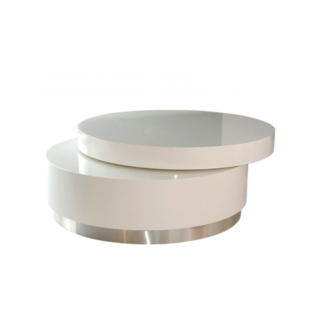 Latest Round Swivel Coffee Tables Regarding Round Swivel Coffee Tabletwentieth Studio (View 10 of 20)
