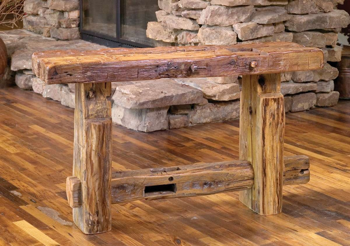 Latest Rustic Barnwood Coffee Tables Pertaining To Reclaimed Barn Wood Furniture (View 8 of 20)