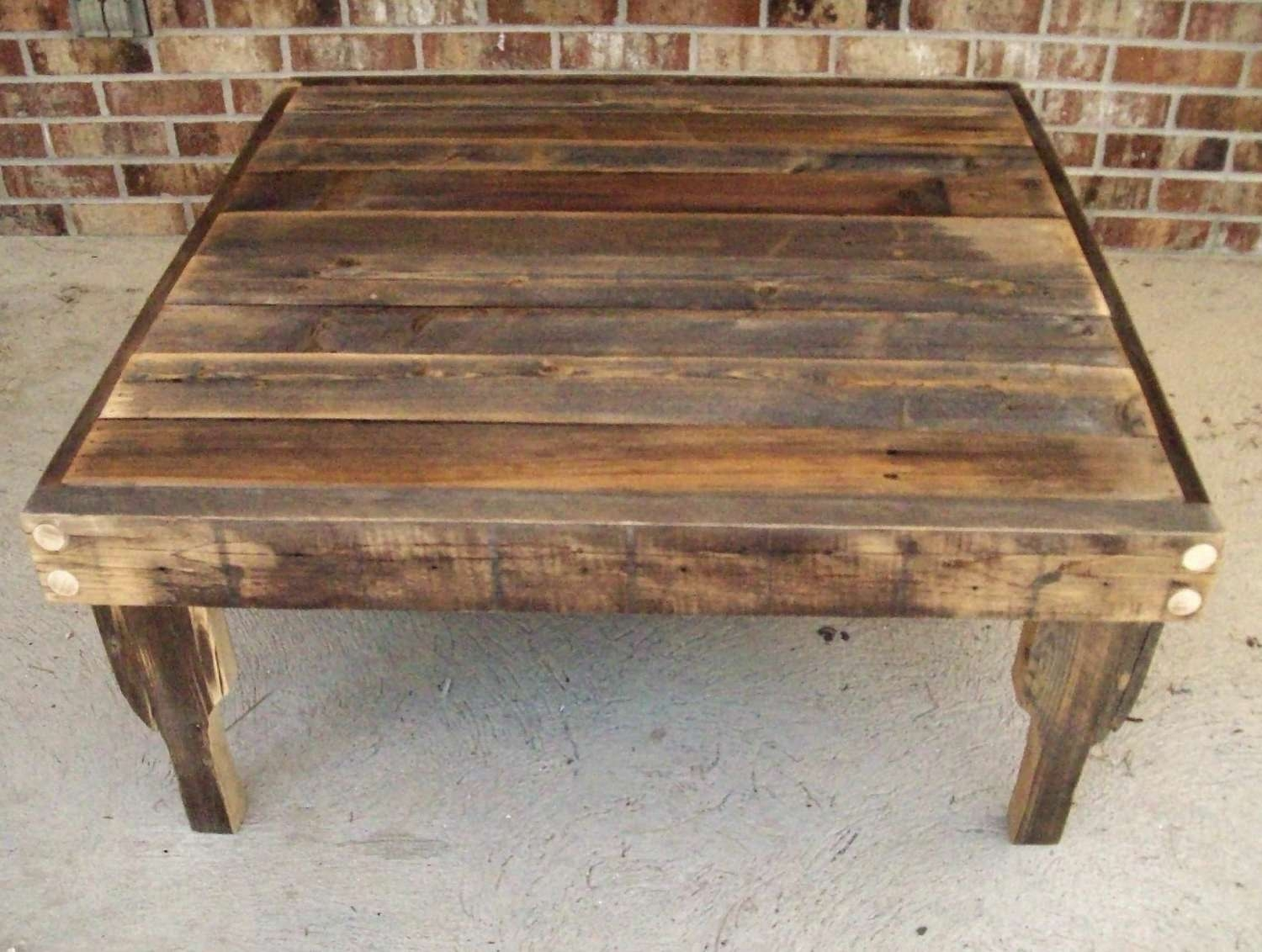 Latest Square Large Coffee Tables Within Square Reclaimed Wood Coffee Table (View 11 of 20)
