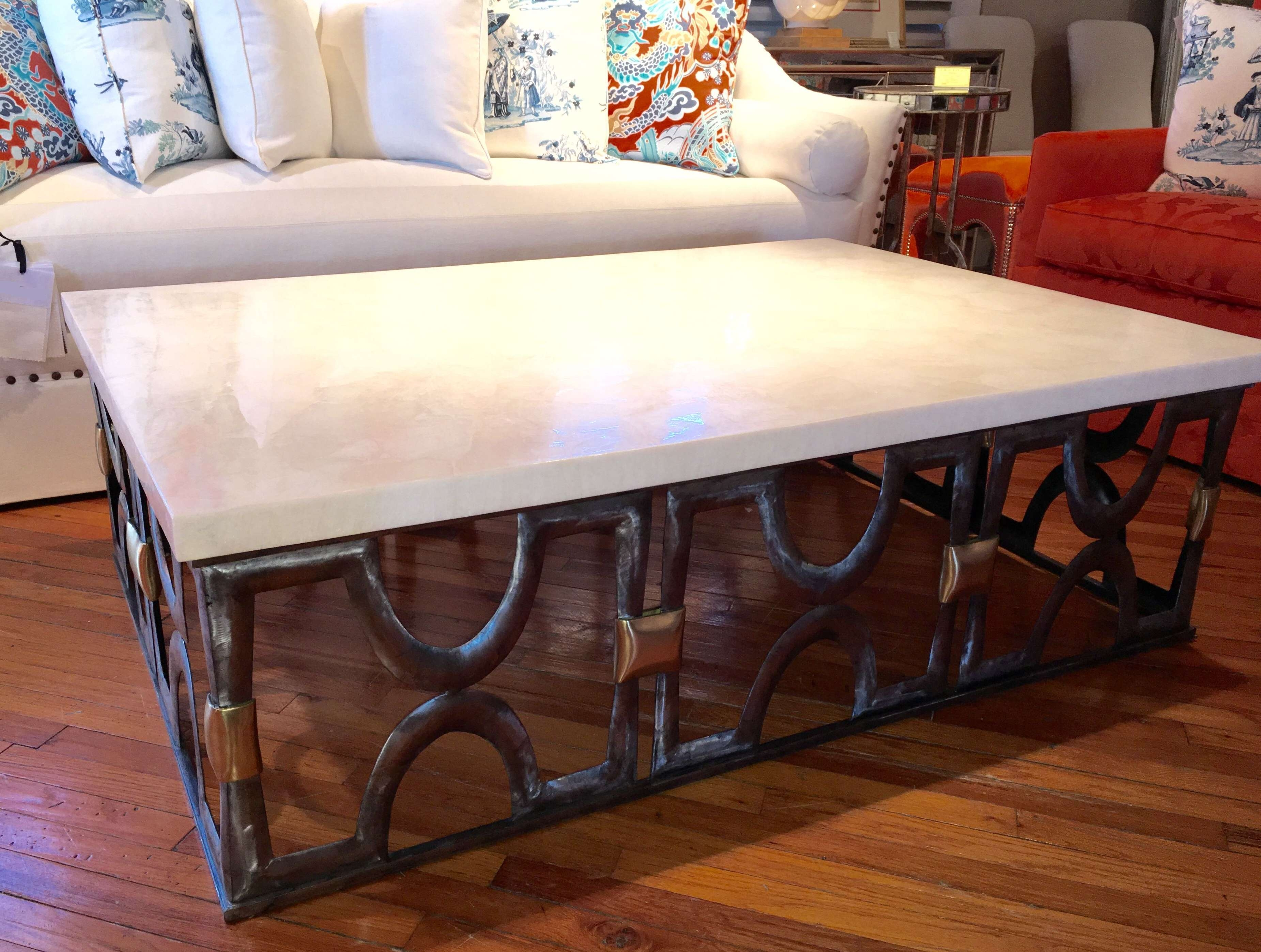 Latest Square Stone Coffee Tables In Coffee Tables : Round Gray Coffee Table X Dark Wood Stone Top Lift (View 13 of 20)