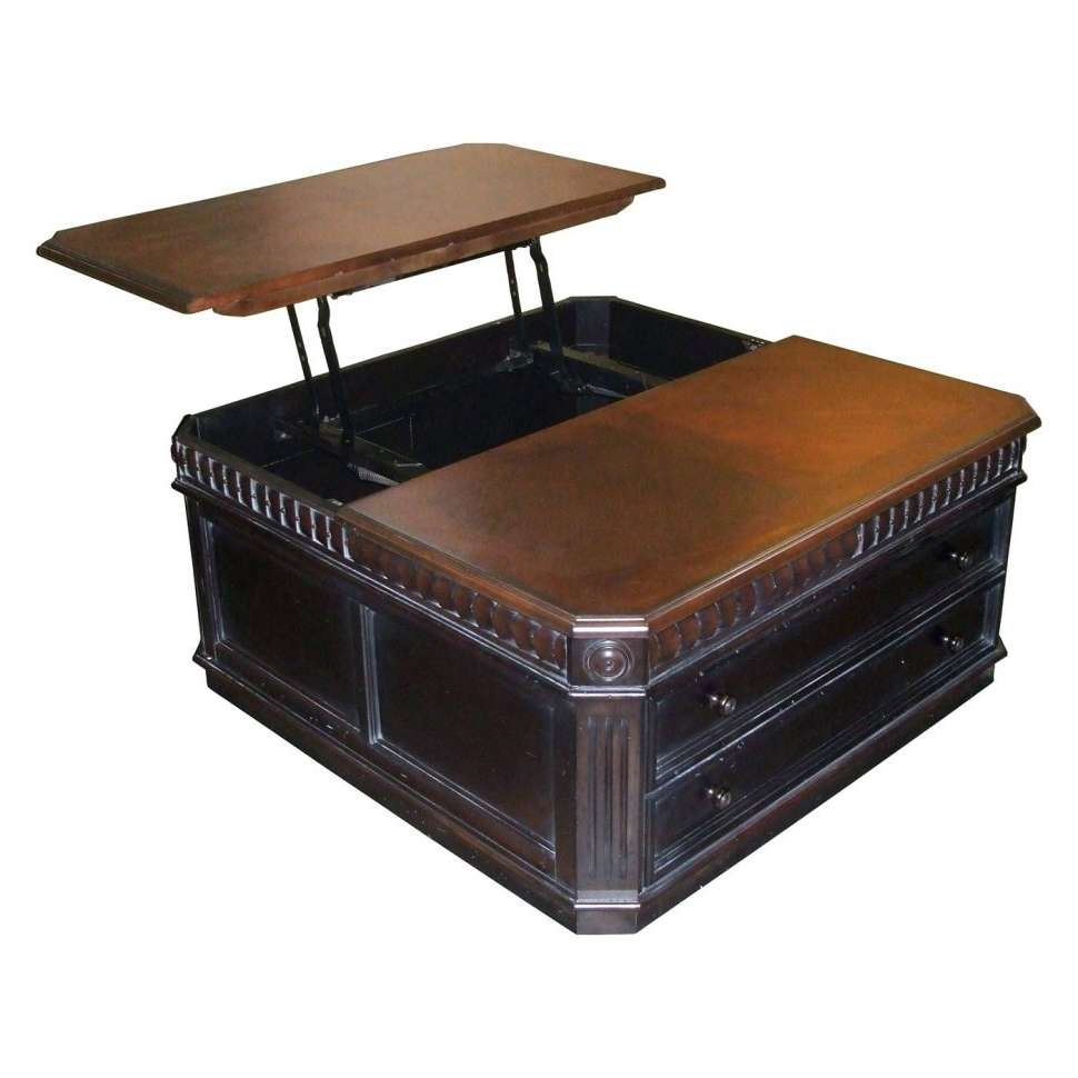 Latest Square Storage Coffee Table Throughout Coffee Tables : Large Round Coffee Table Wood Square Storage Chest (View 5 of 20)