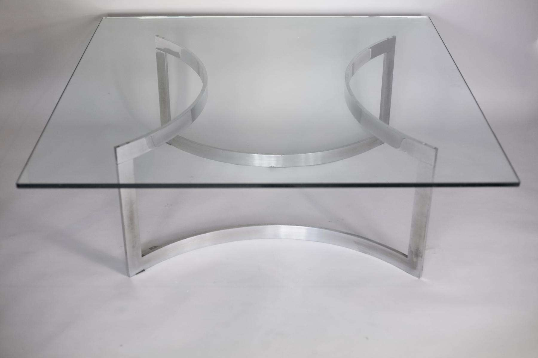 Latest Thick Glass Coffee Table With Regard To Chromed Steel And Thick Glass Coffee Table From Dassas, 1963 For (View 9 of 20)