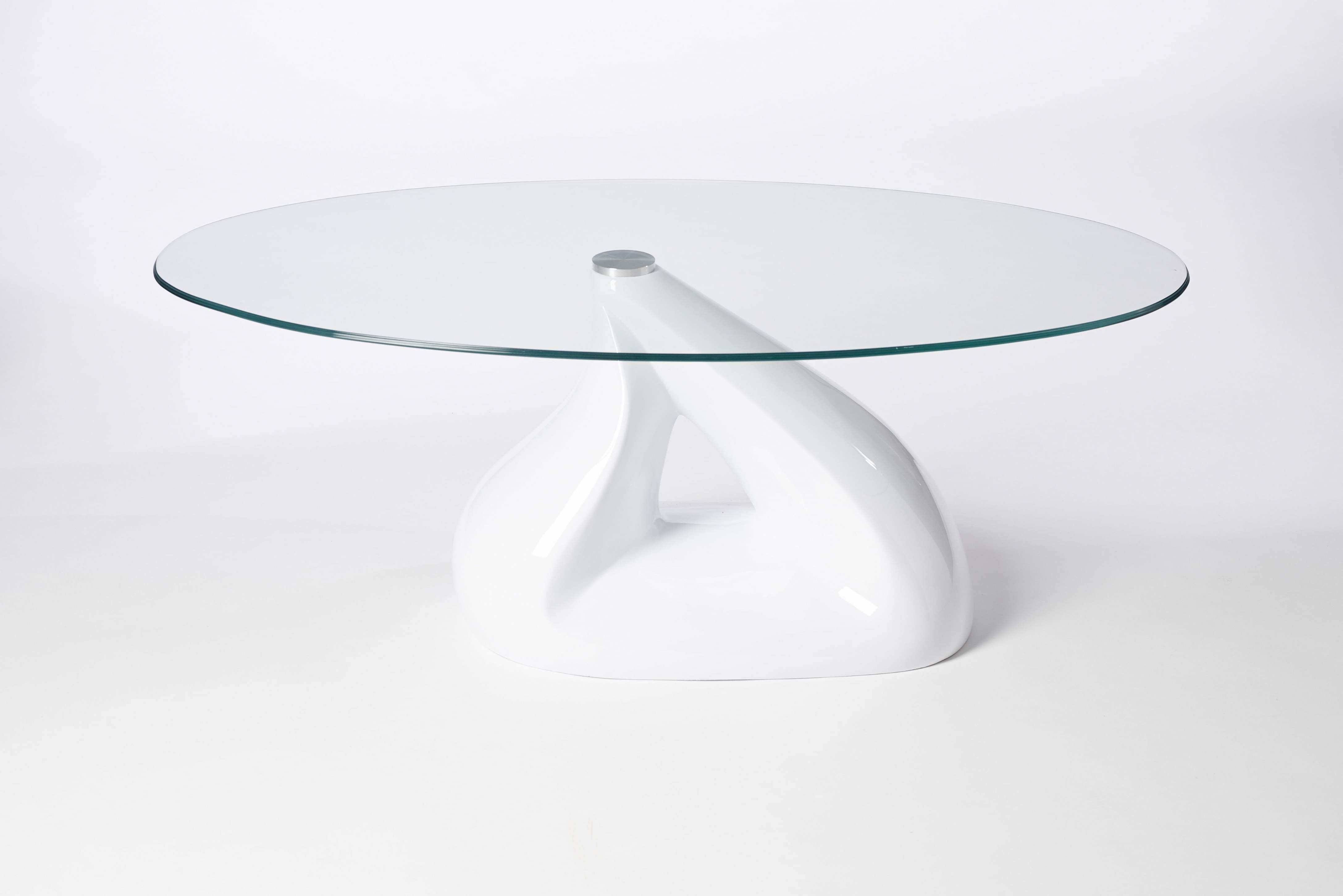 Latest White And Glass Coffee Tables With Regard To Decorations : Living Room Lovely Acrylic Clear Glass Oval Coffee (View 19 of 20)
