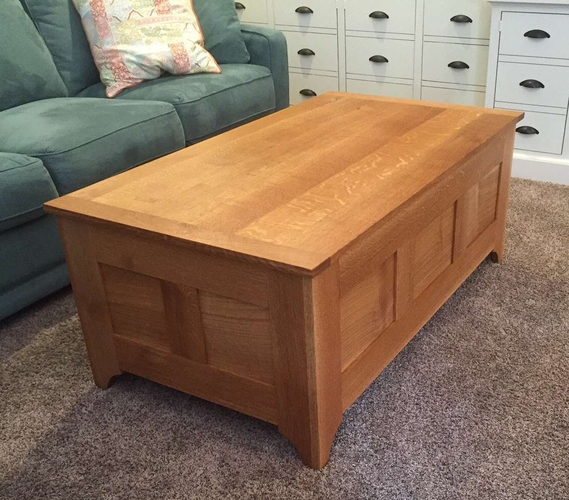 Latest White And Oak Coffee Tables With Regard To Quarter Sawn White Oak Coffee Table/chest (View 10 of 20)